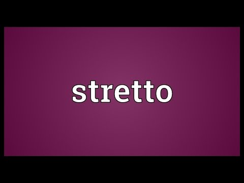 Stretto Meaning