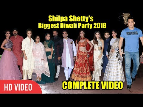 UNCUT - Shilpa Shetty's Biggest Diwali Party 2018 | Salman Khan, Shabir, Jacqueline | FULL VIDEO thumbnail