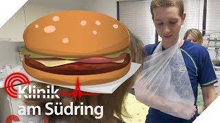 Tims Knochen brechen, wenn er Burger isst! | Klinik am Südring | SAT.1 TV