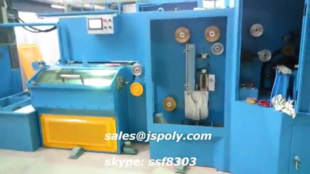 0.05mm & 0. 07mm EDM brass wire drawing machine and annealing - YouTube