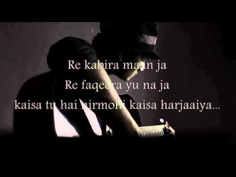 Kabira mtv unplugged   Karaoke