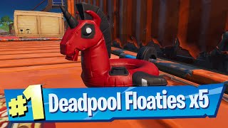 Find Deadpool Floaties at The Yacht Locations - Fortnite Battle Royale Chapter 2 Season 3 Challenge