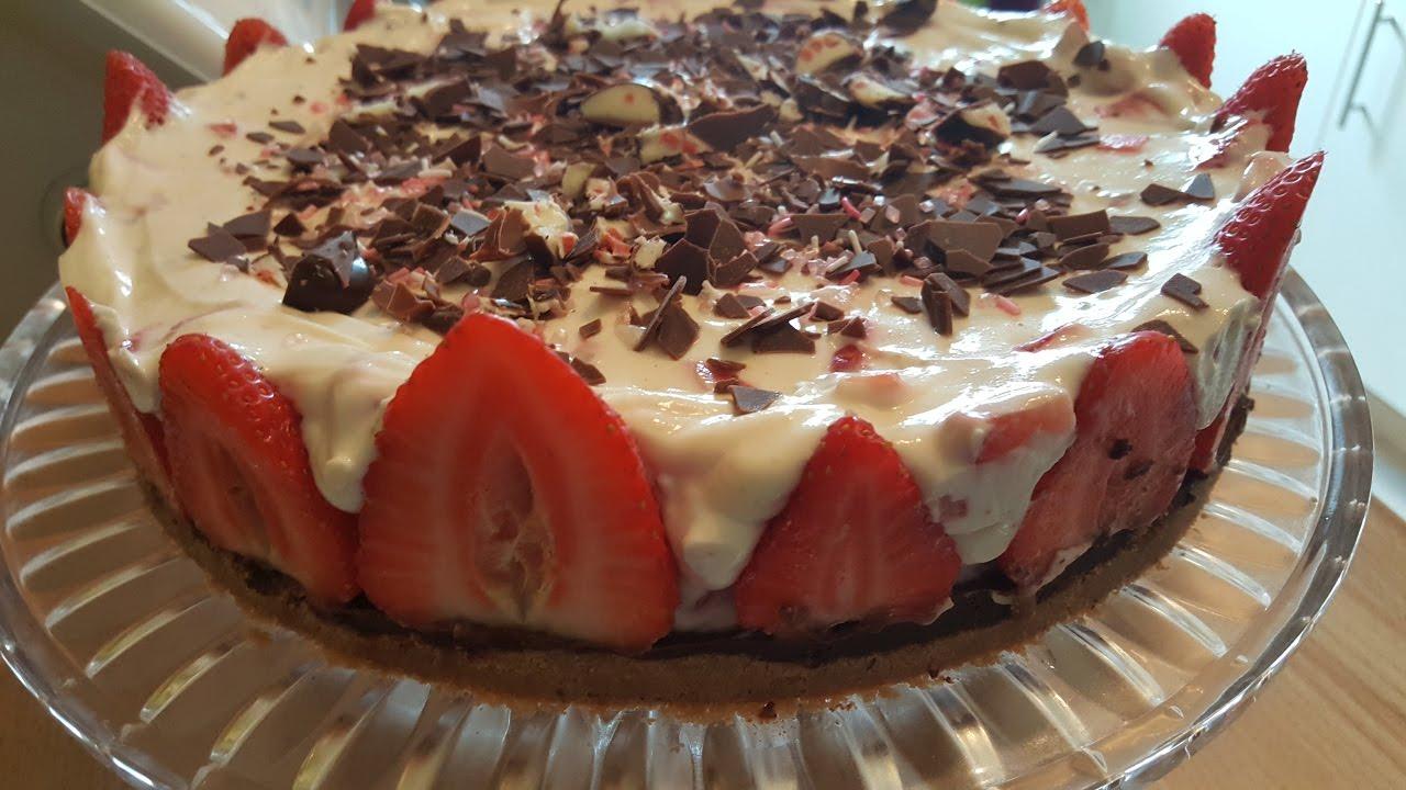 Thermomix Erdbeer Yogurette Torte Ohne Backofen Youtube
