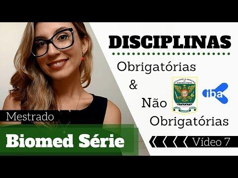 Biomed Série - Disciplinas obrigatórias e não obrigatórias do mestrado