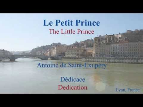 French Philosophical Novel - Le Petit Prince by St Exupery - Dédicace