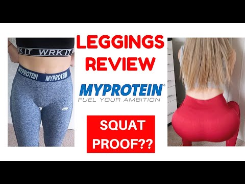 MyPROTEIN LEGGINGS TRY ON   HONEST REVIEW   SQUAT PROOF??