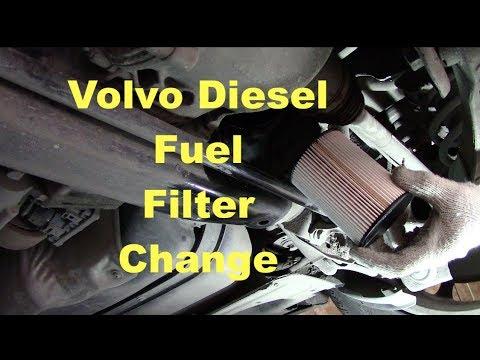 Volvo XC70 D4 Diesel Fuel Filter Change.