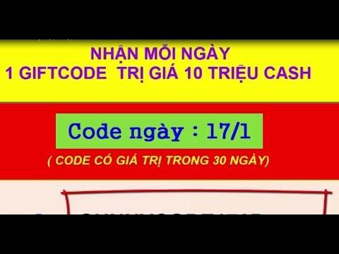Phát 1000 Gift Ccode gunny ngày 17 .1. 2018 code tồn tại trong 30 ngày mỗi  ngày nhận 1 code