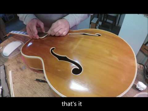 Extremely rare Maton SA70 Starline 1952 restoration project part 8
