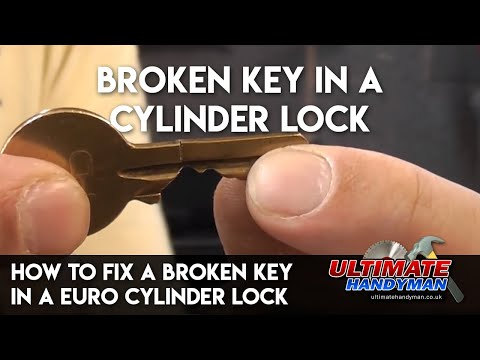 How to fix a broken key in a Euro cylinder lock