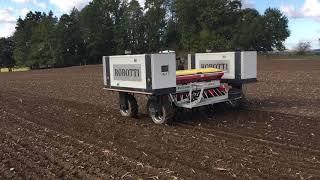 Robotické setí pšenice na Jindřichohradecku, říjen 2020 (1)