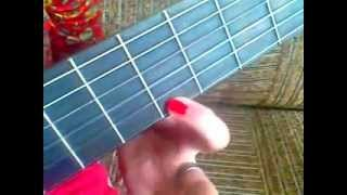 урок на гитаре ''в траве сидел кузнечик''