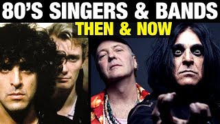 80s SINGERS AND BANDS ⭐ THEN AND NOW 🎵