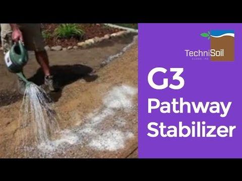 G3 Pathway Stabilizer Product Demo Backyard Decomposed