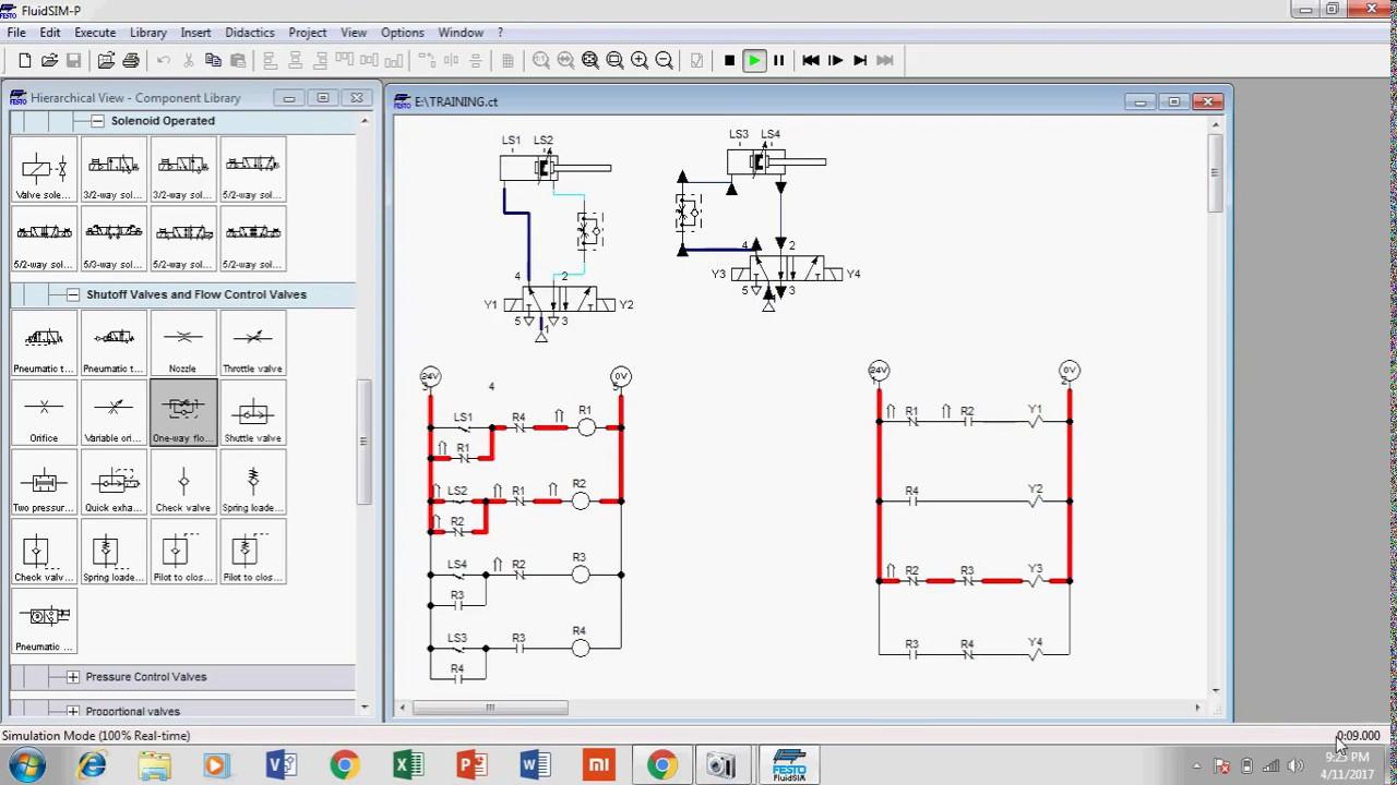 Belajar Basic Ladder PLC Dengan FluidSIM ( A B B A