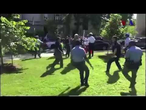 Several people injured after protest outside Turkish ambassador's residence
