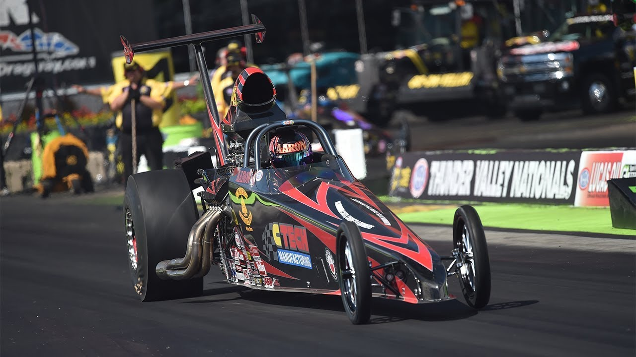 2018 Fitzgerald USA Thunder Valley Nationals Top Dragster winner Aaron Stanfield