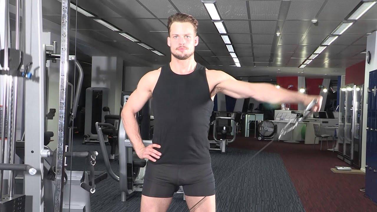 Exercice de musculation épaules - Elévation latérale à la ...