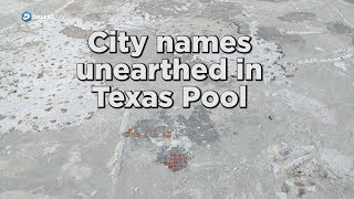 City names unearthed at bottom of renovated Texas Pool