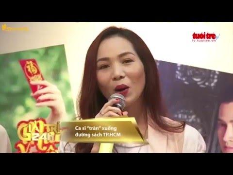 Phương Thanh, Xuân Phú, Hoàng Lê Vi xuống phố sách ra mắt CD mới | Giải trí 24h