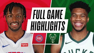 Game Recap: Bucks 125, Pistons 115