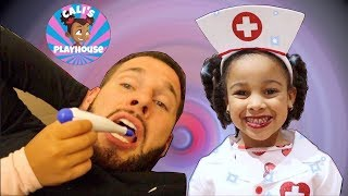 Doctor Cali Helps Daddy | Cali's Playhouse