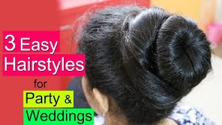3 Party Hairstyles for Thin Hair   Easy Hairstyle for Party & Wedding