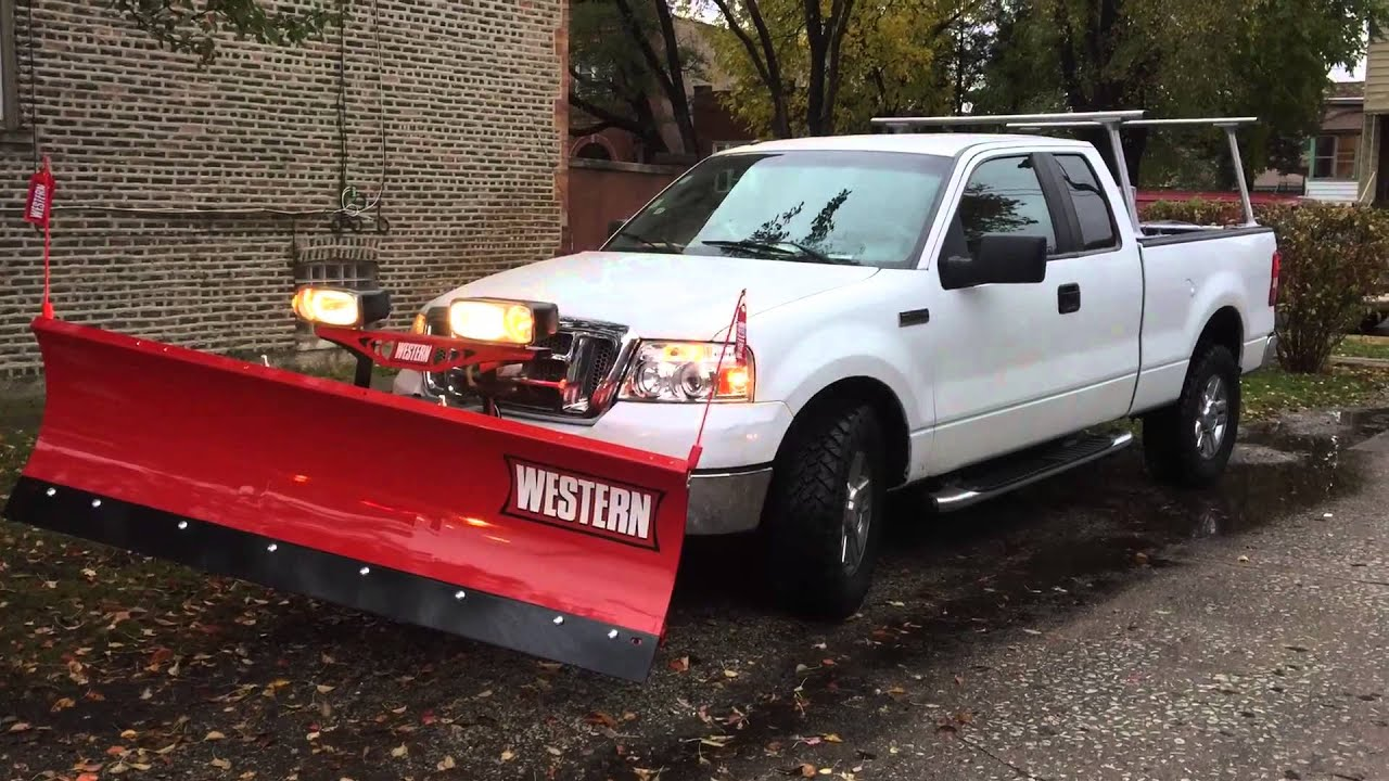 F150 Snow Plow >> FORD F 150 SNOW PLOW - YouTube