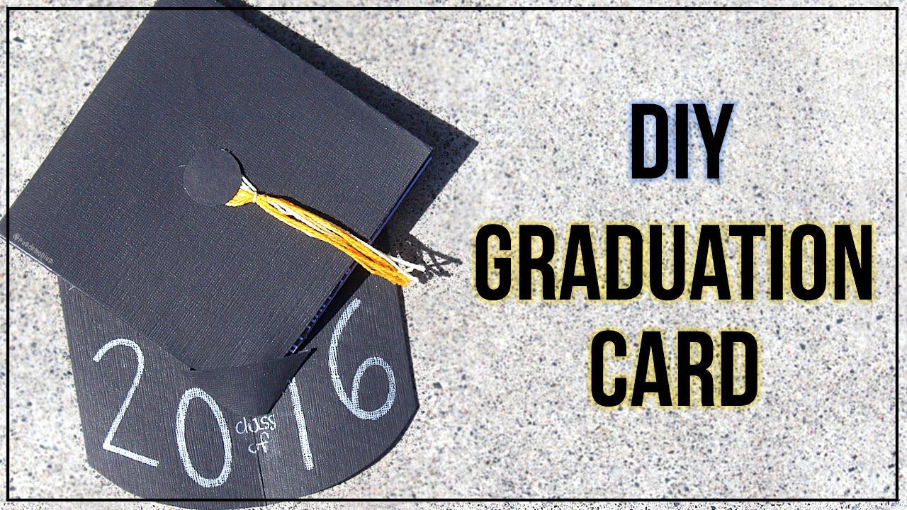 How To Make A Graduation Card Youtube