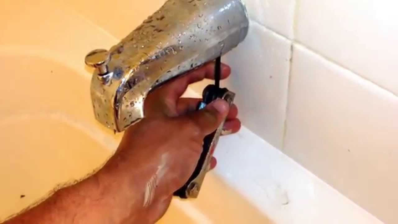 Bathtub Spout/Diverter Replacement EASY! - YouTube