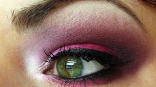 BRIGHT Hot Pink and Purple makeup tutorial (FaceFront Cosmetics)