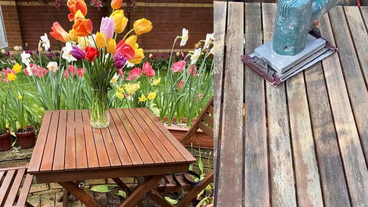 How to- Restore Teak garden Furniture