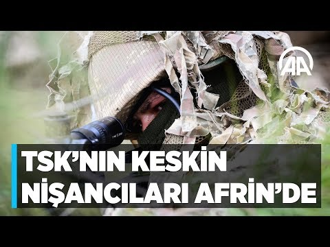TSK'nın keskin nişancıları Afrin'de