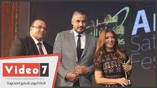 بالفيديو..سميرة سعيد تفوز بجائزة أفضل ألبوم بمهرجان الفضائيات العربية