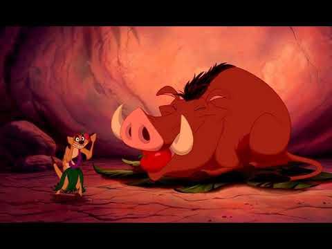 Король лев (The Lion King). Озвучка Гаврилова. Тимон и Пумба отвлекают гиен. The Hula Song