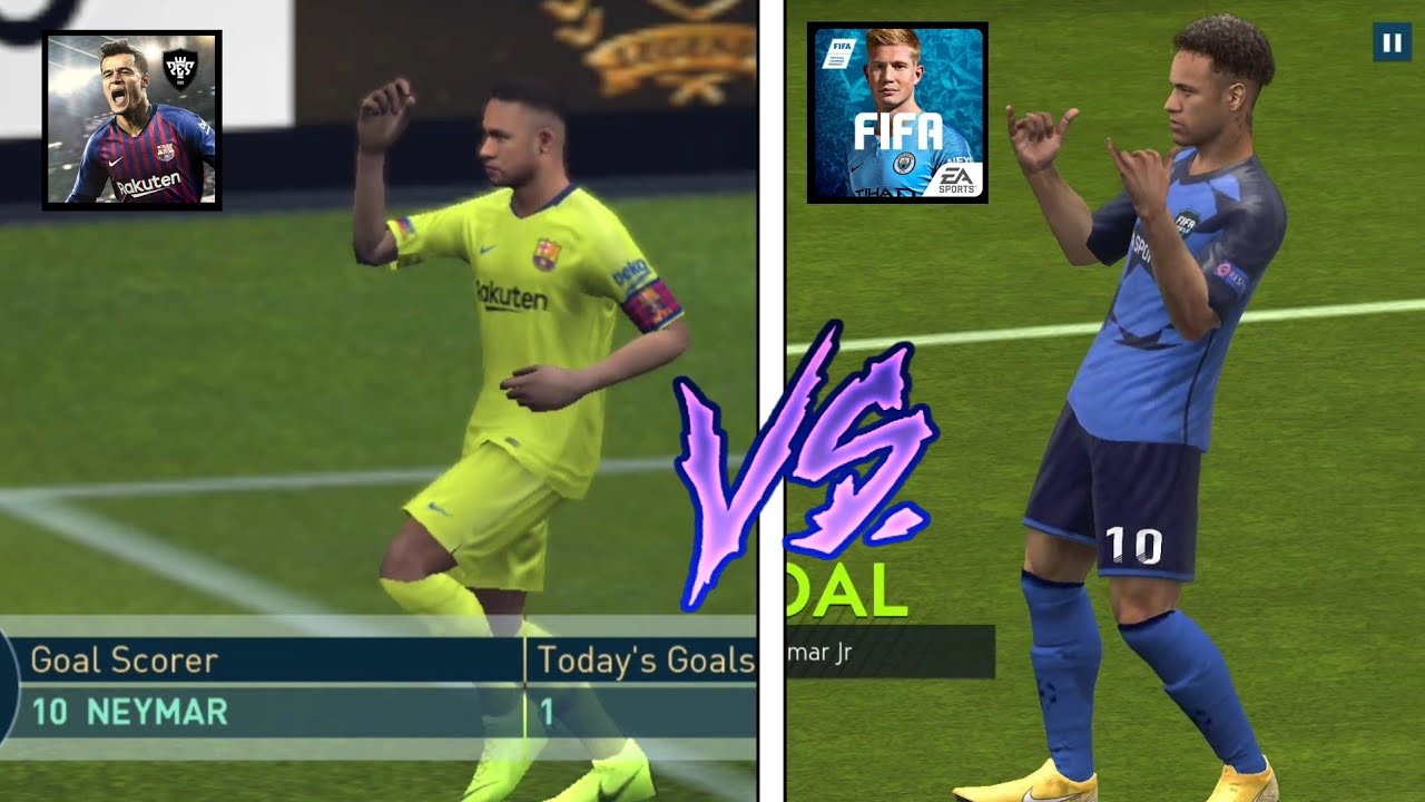 FIFA Mobile 19 vs PES Mobile 19 ~ Gameplay, Graphics, Player Faces and  Everything you need to know