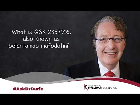 What is GSK 2857916, also known as belantamab mafodotin?