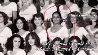 (1959~2011) Miss India World All time Titleholders