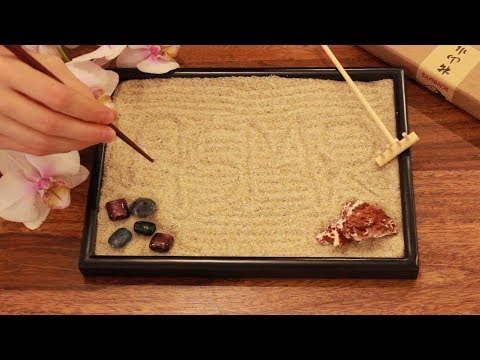 ASMR ICNBUYS Zen garden sand tracing [No talking]