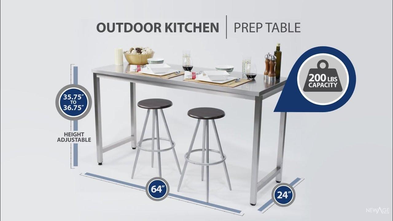 Outdoor Kitchen Prep Table Youtube