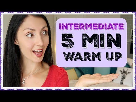 INTERMEDIATE 5 Minute Vocal Warm Up: ALL VOICE Types