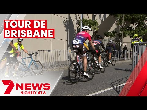 Thousands cycle in the 2021 Tour De Brisbane | 7NEWS