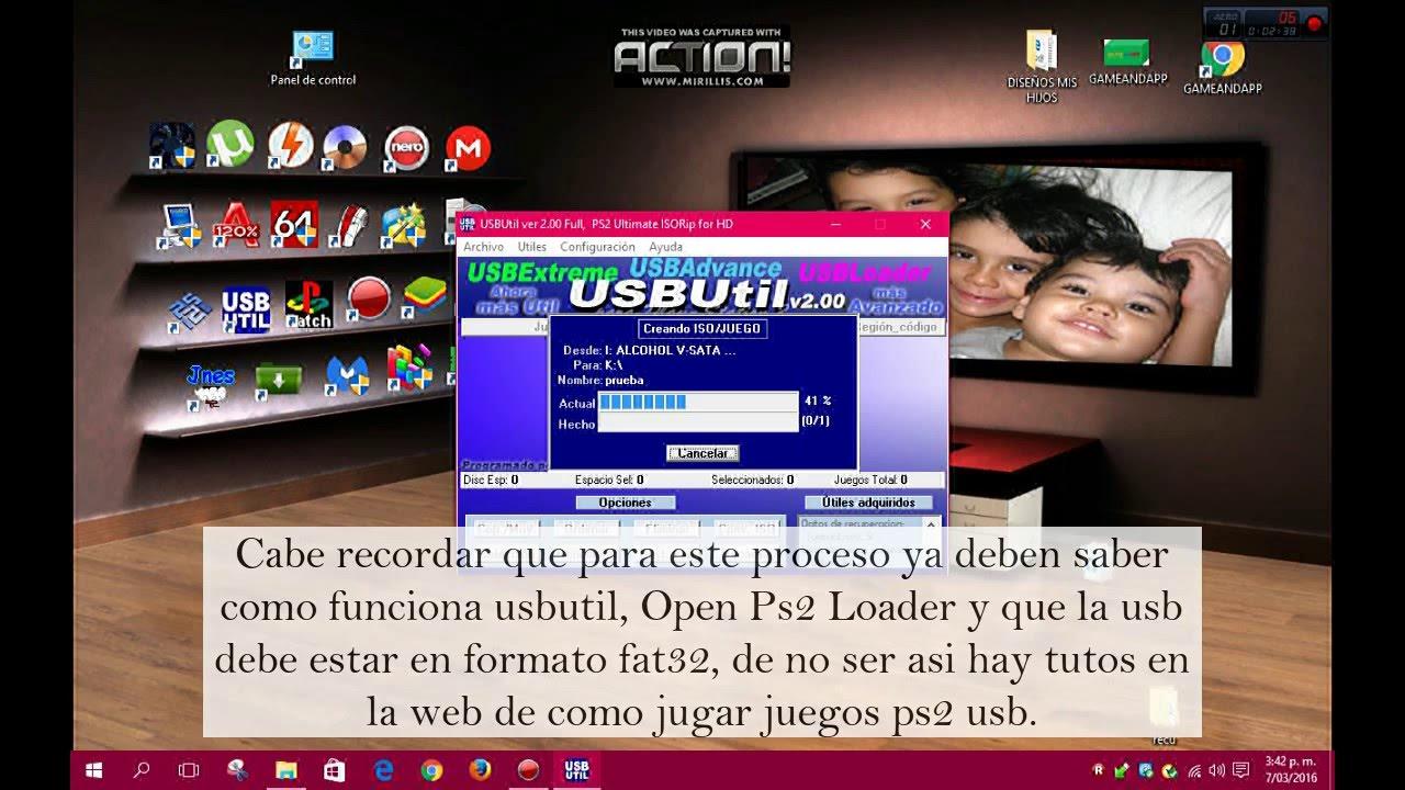 como grabar juegos bin y cue ps2 para jugar por usb con OPL by Luis Munive