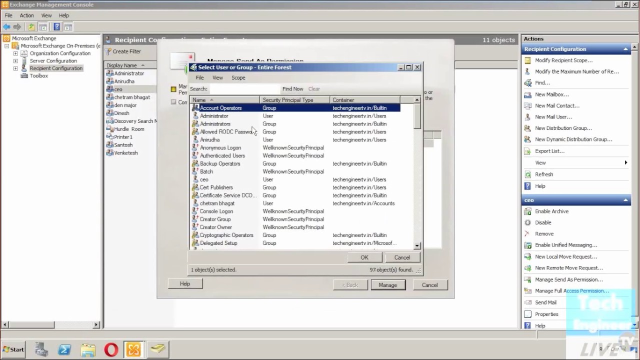 Configure Mailbox Delegation in Exchange Server 2010 - YouTube