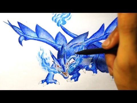 how to draw pokemon mega charizard