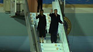 Trump arrive à Paris pour les commémorations du 11 novembre