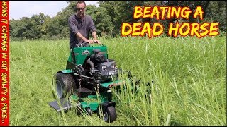 Bobcat mower -Testing it in Tall grass