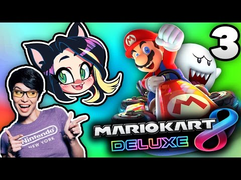 ►Mario Kart 8: Deluxe►BOWSER'S CASTLE IS CRAZY!►With Pamela Horton!► PART 3 - Kitty Kat Gaming