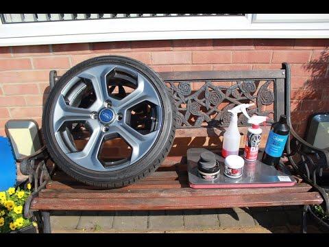Waxing and sealing alloy wheels