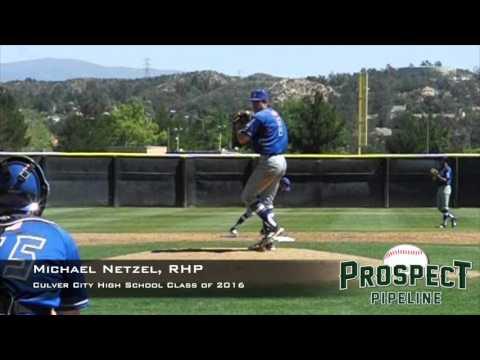 Michael Netzel, RHP, Culver City High School, Pitching Mechanics at 200 FPS